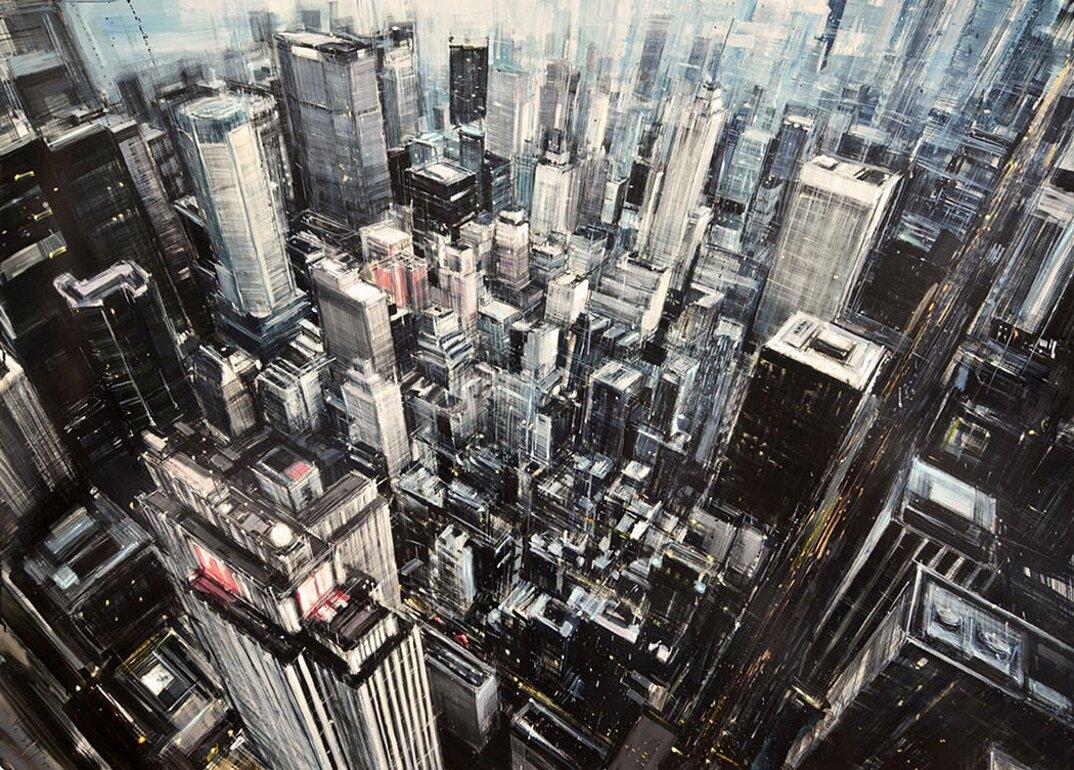dipinti-citta-new-york-milano-parigi-movimento-valerio-dospina-08