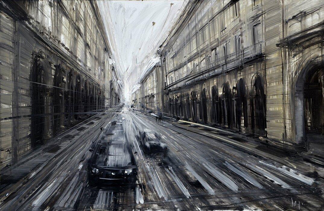 dipinti-citta-new-york-milano-parigi-movimento-valerio-dospina-09