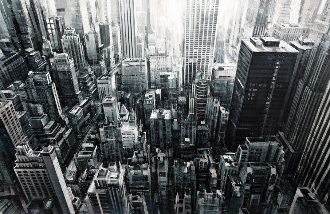 dipinti-citta-new-york-milano-parigi-movimento-valerio-dospina-10