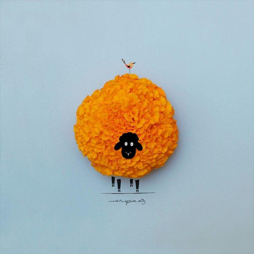 illustrazioni-3d-fiori-oggetti-comuni-jesuso-ortiz-03