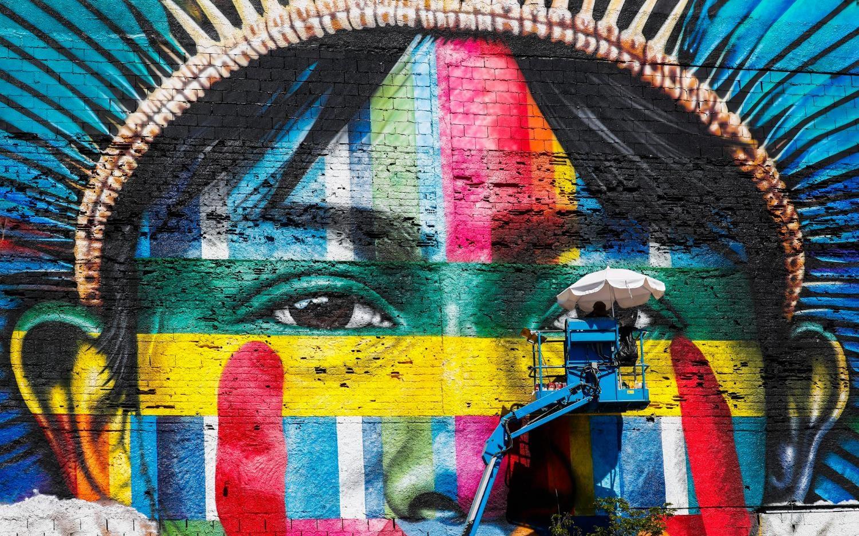 I Piu Bei Murales.Il Murale Piu Grande Del Mondo Si Trova A Rio De Janeiro In Omaggio