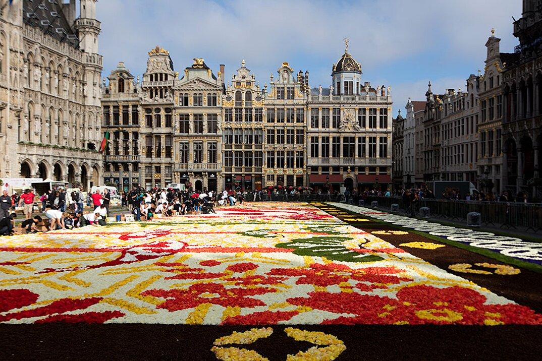 Tappeto Floreale Bruxelles : Flower time un giardino di fiori e frutti nel cuore di bruxelles