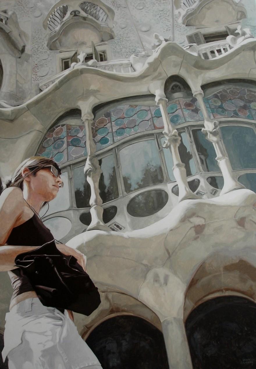 dipinti-iperrealisti-scorci-barcellona-passanti-marc-figueras-04