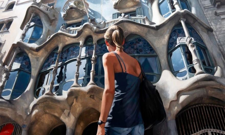 dipinti-iperrealisti-scorci-barcellona-passanti-marc-figueras-08