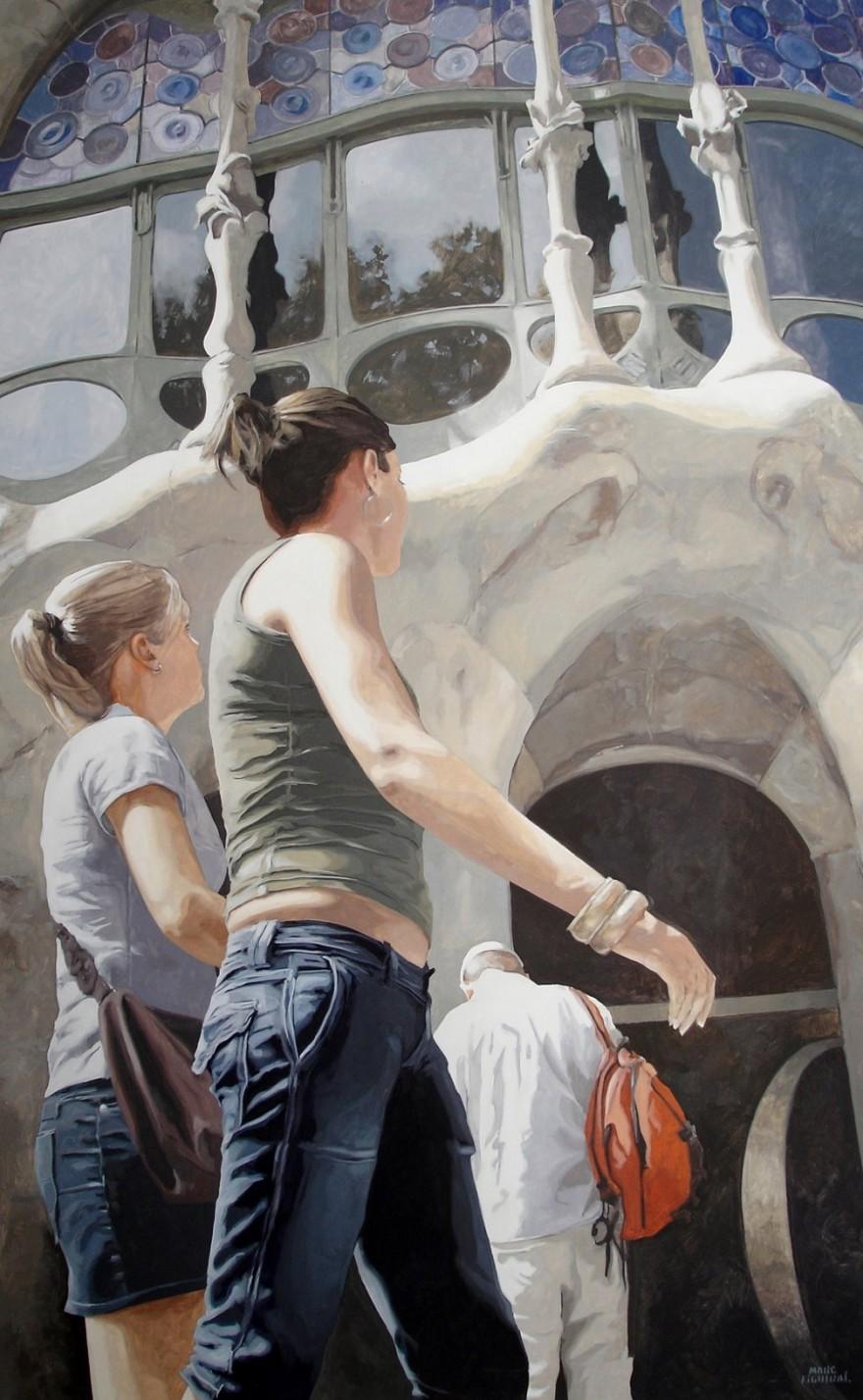 dipinti-iperrealisti-scorci-barcellona-passanti-marc-figueras-10