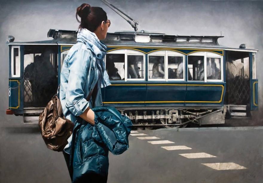 dipinti-iperrealisti-scorci-barcellona-passanti-marc-figueras-11