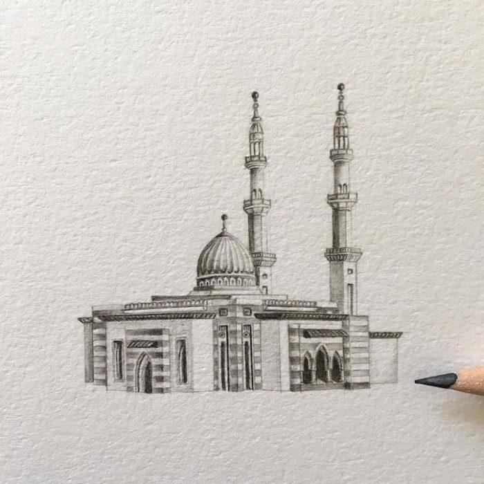 disegni-matita-miniature-moschee-emirati-arabi-uniti-mariam-abbas-12