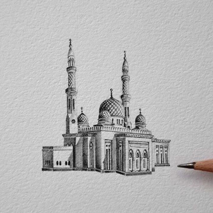disegni-matita-miniature-moschee-emirati-arabi-uniti-mariam-abbas-13