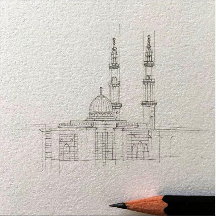 disegni-matita-miniature-moschee-emirati-arabi-uniti-mariam-abbas-17