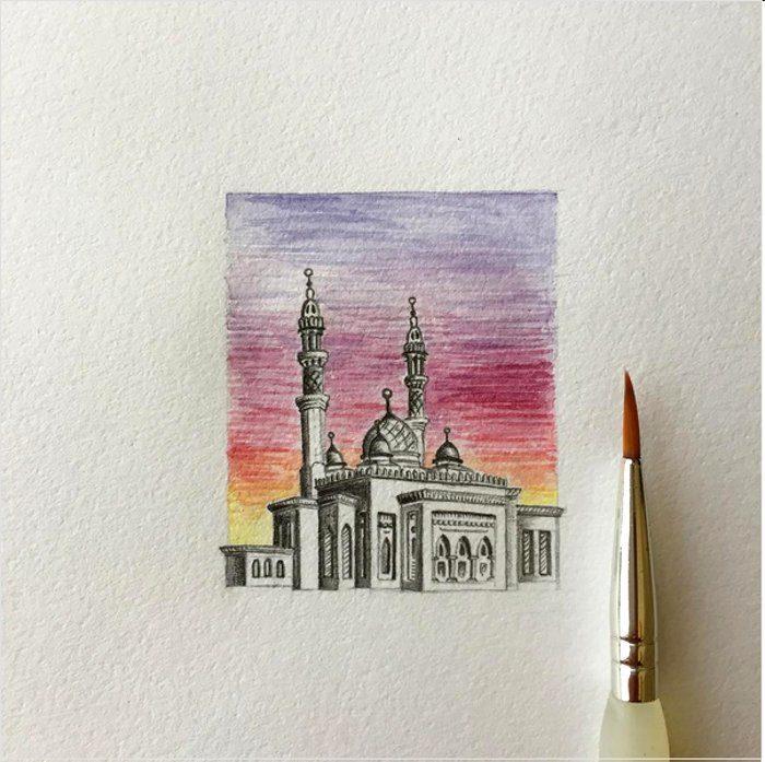 disegni-matita-miniature-moschee-emirati-arabi-uniti-mariam-abbas-21