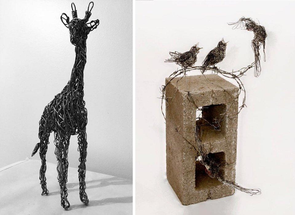 sculture-filo-metallico-animali-candice-bees-36