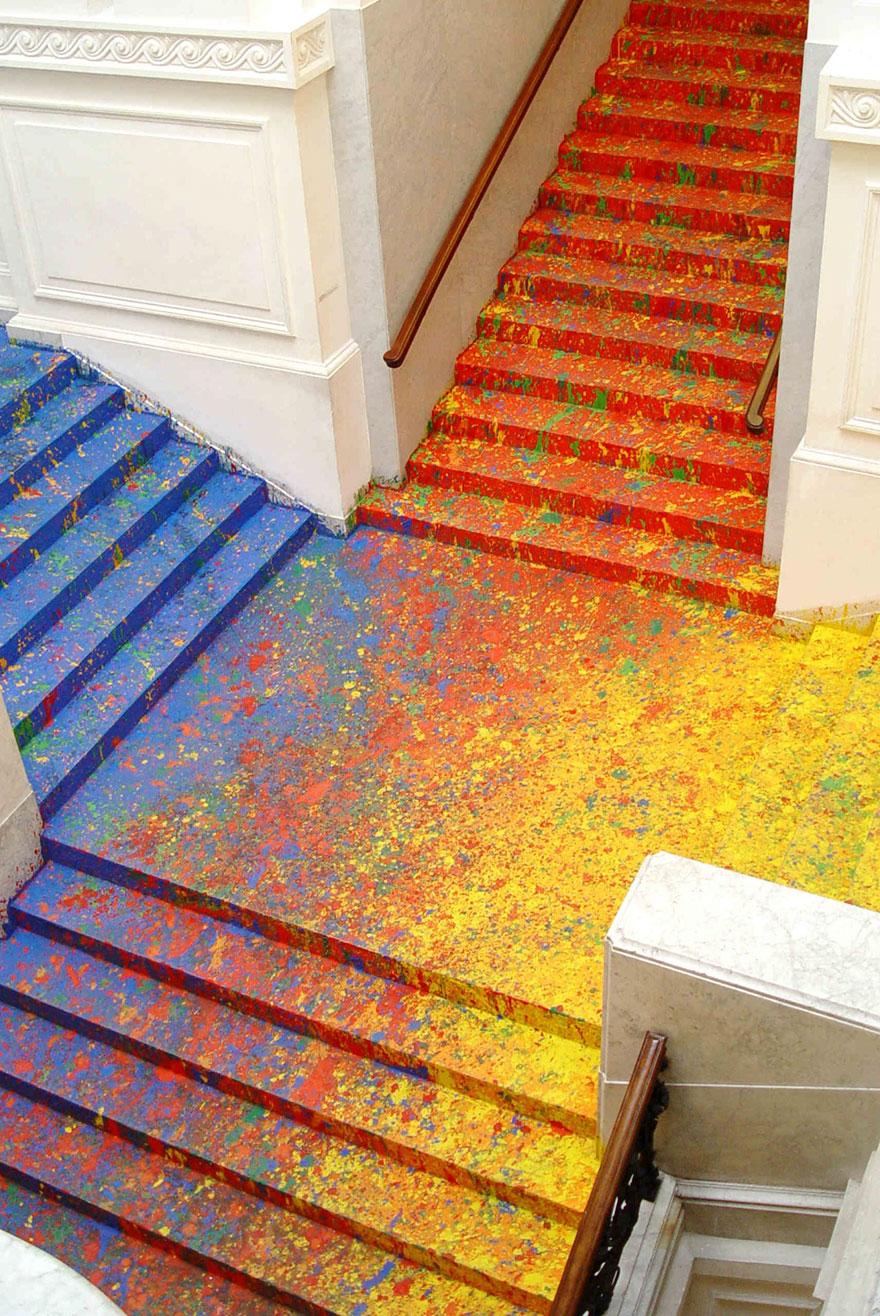 scalinata-dipinta-zacheta-gallery-arte-polonia-leon-tarasewicz-2