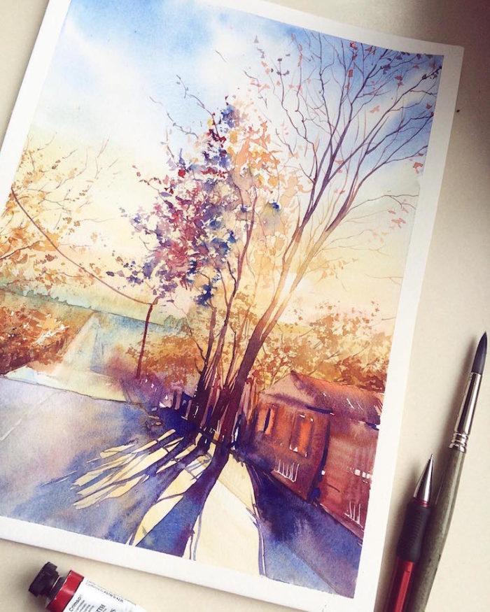 acquerelli-scorci-paesaggi-natura-dina-lepchenkova-02