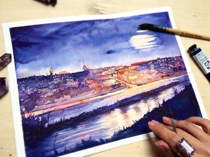 acquerelli-scorci-paesaggi-natura-dina-lepchenkova-06