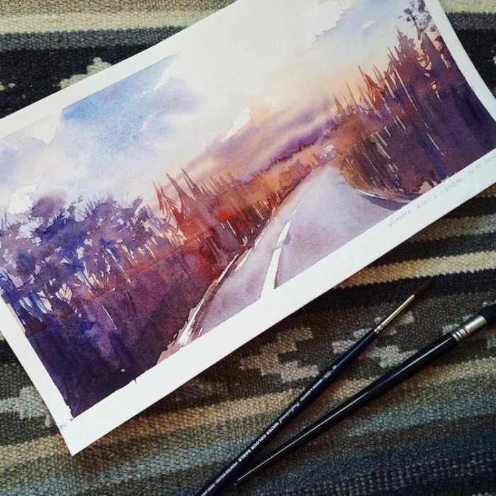 acquerelli-scorci-paesaggi-natura-dina-lepchenkova-07
