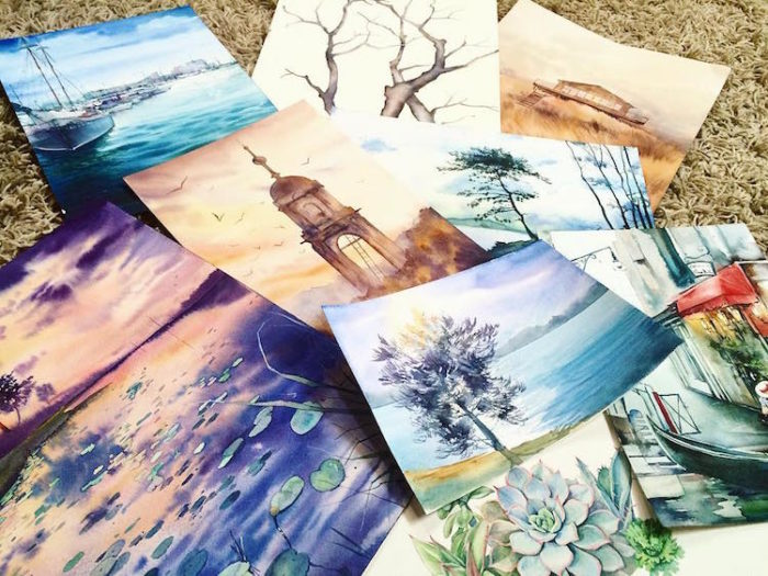 acquerelli-scorci-paesaggi-natura-dina-lepchenkova-13