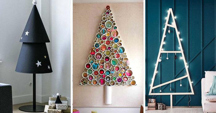 Alberi Di Natale Alternativi Foto.14 Idee Creative Per Un Albero Di Natale Alternativo Keblog