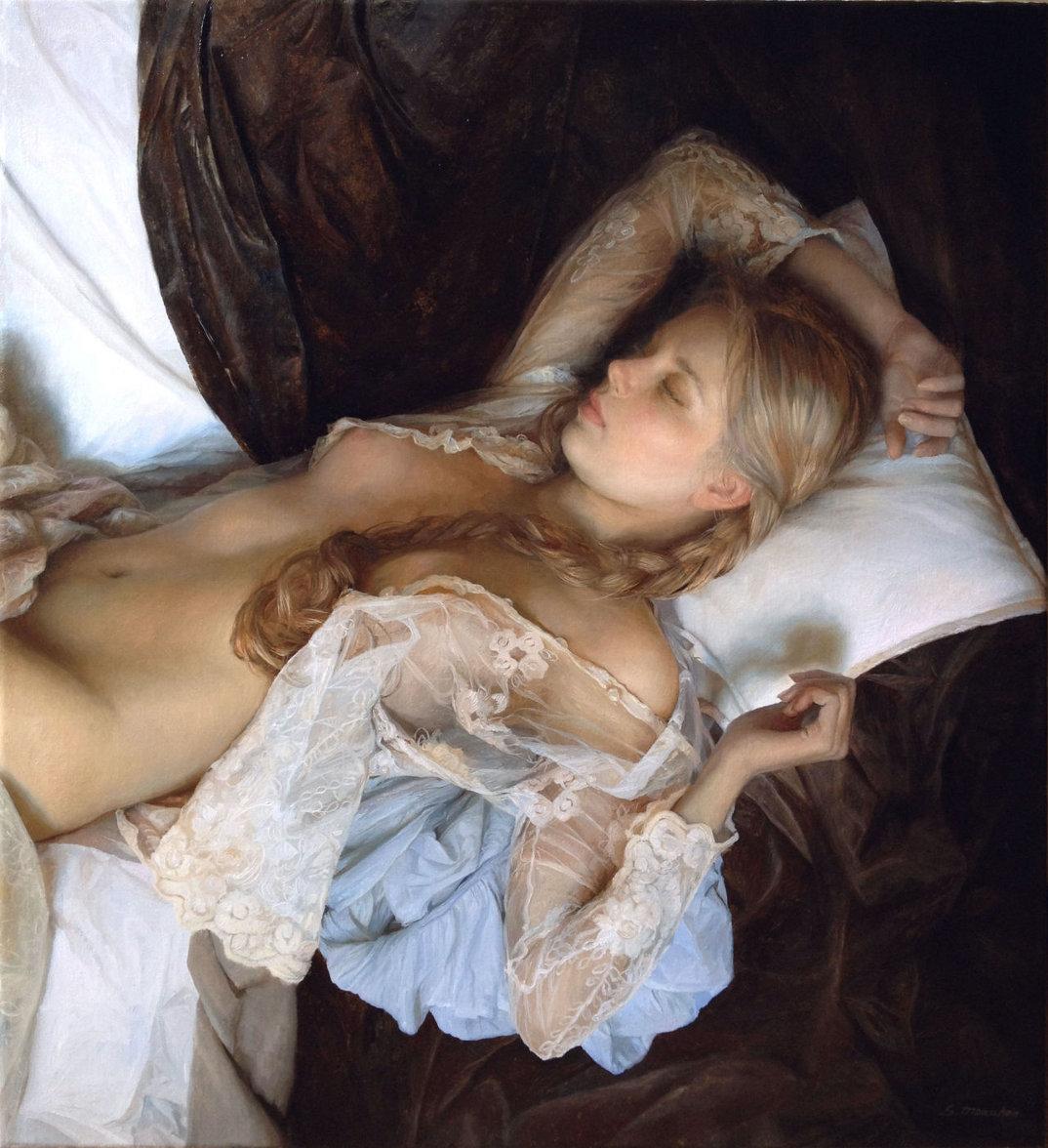 dipinti-olio-donne-seducenti-sensuali-sergei-marshennikov-17