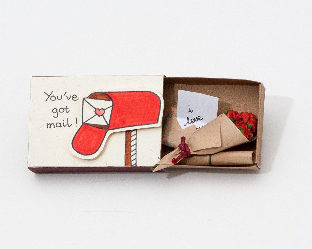 Scatole di fiammiferi decorate regalo Natale