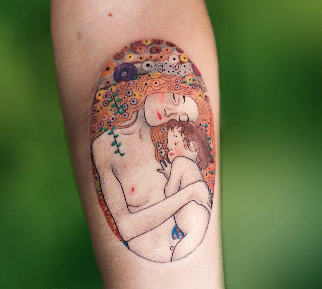 tatuaggi-ispirati-dipinti-gustav-klimt-06