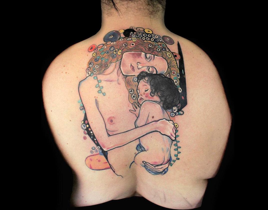 Tatuaggi ispirati ai dipinti di Gustav Klimt