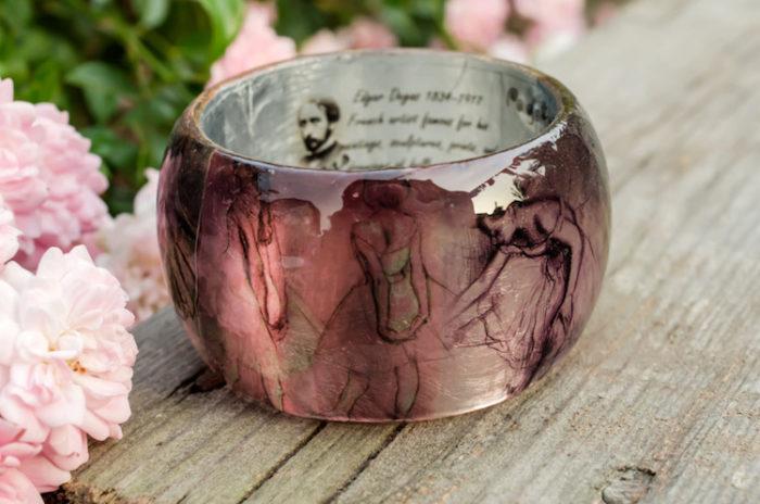 bracciali-resina-fatti-a-mano-opere-arte-famose-pagane-uniques-10