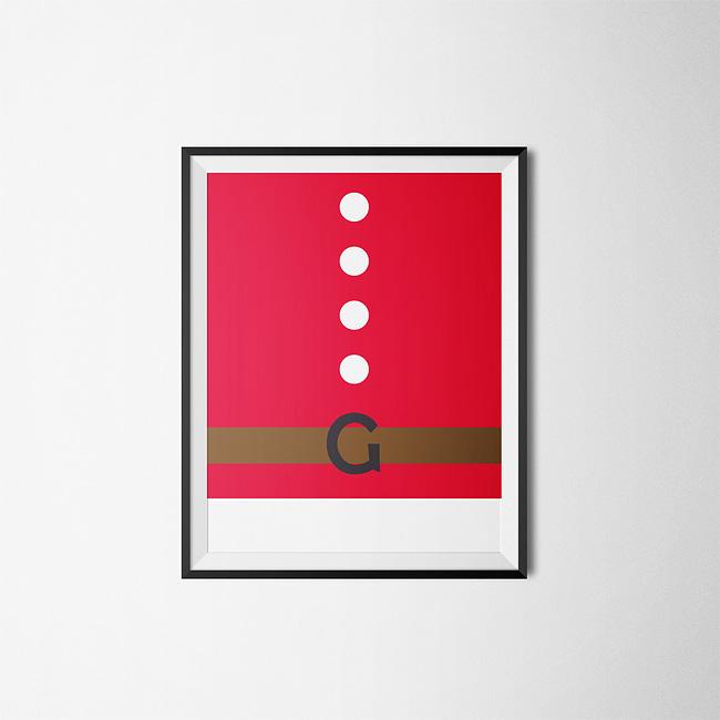 Caratteri tipografici interpretano lo spirito natalizio nei biglietti di auguri di Luca Milani