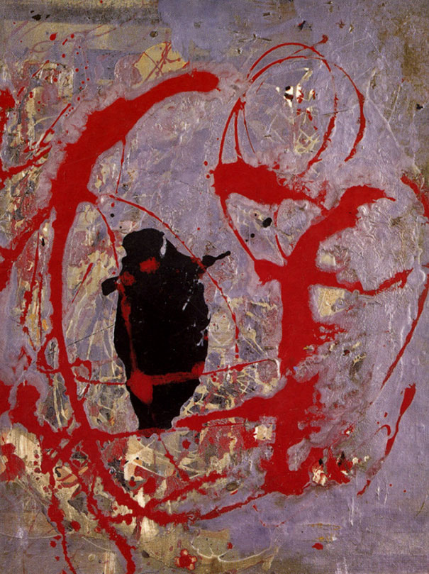Risultati immagini per rosso nero e argento pollock