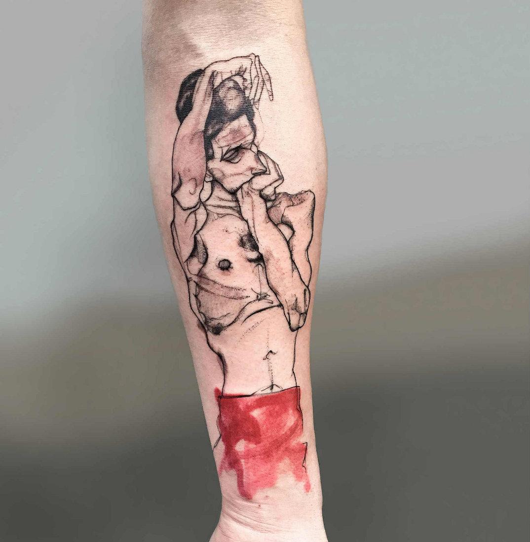 tatuaggi-ispirati-opere-egon-schiele-01