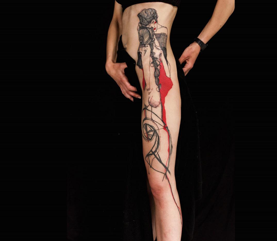 tatuaggi-ispirati-opere-egon-schiele-04