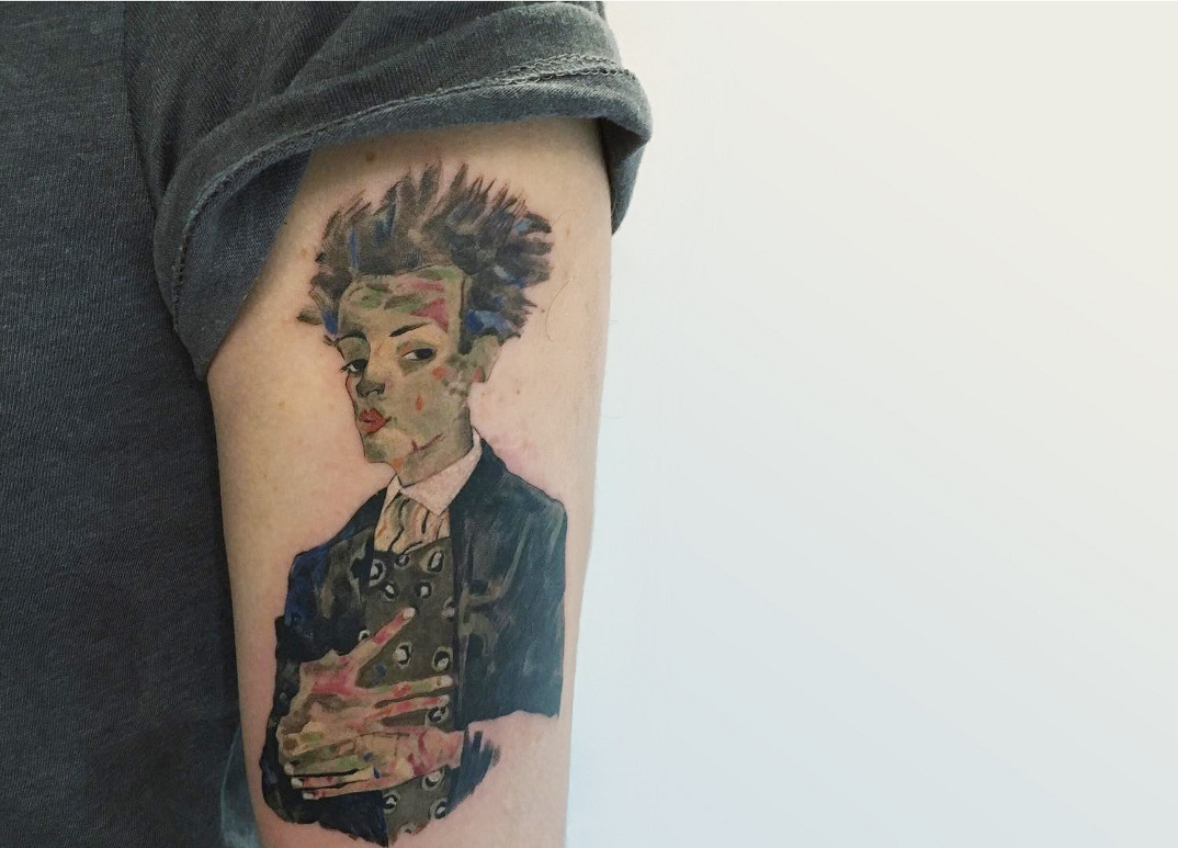 tatuaggi-ispirati-opere-egon-schiele-05