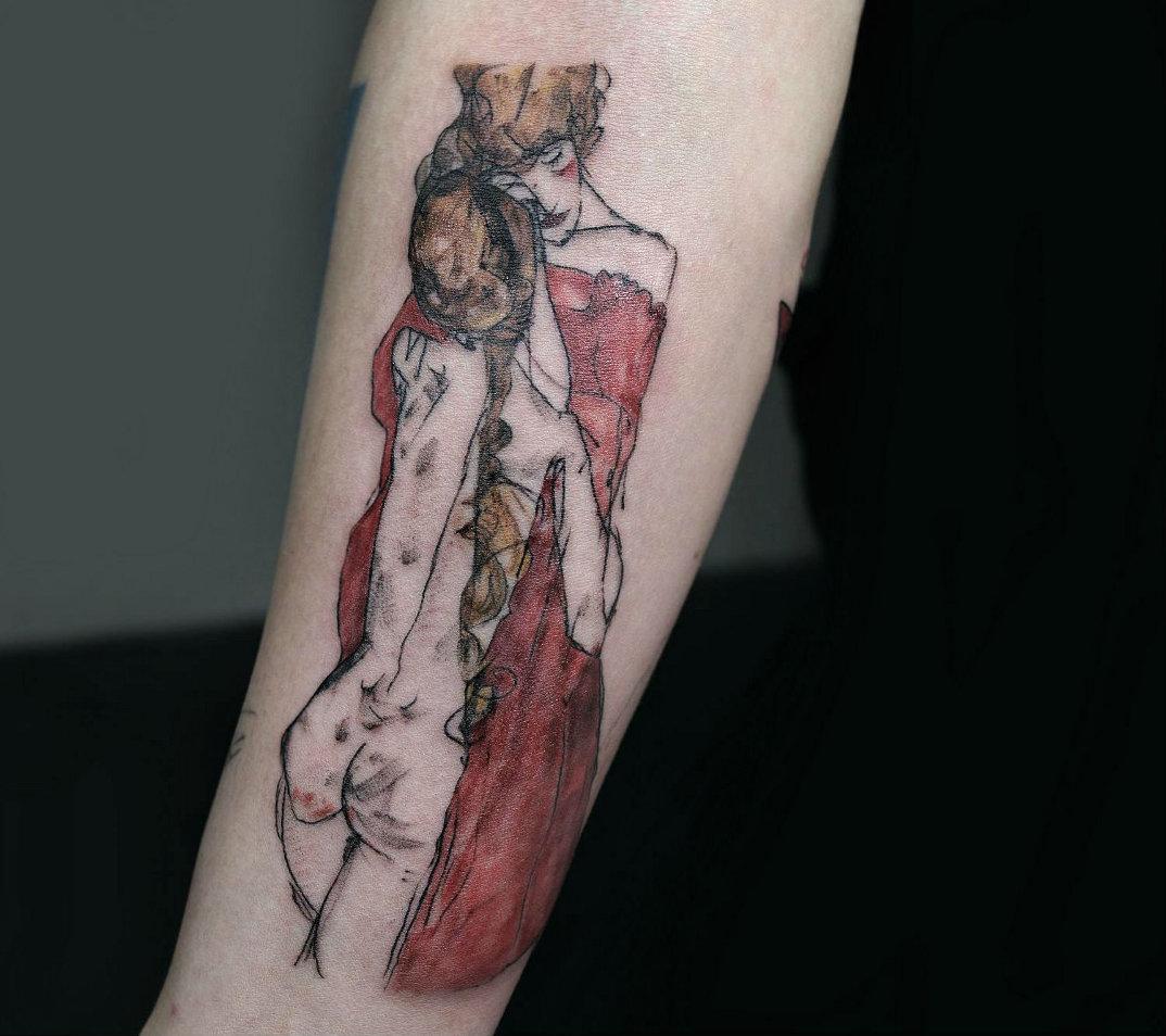 tatuaggi-ispirati-opere-egon-schiele-08