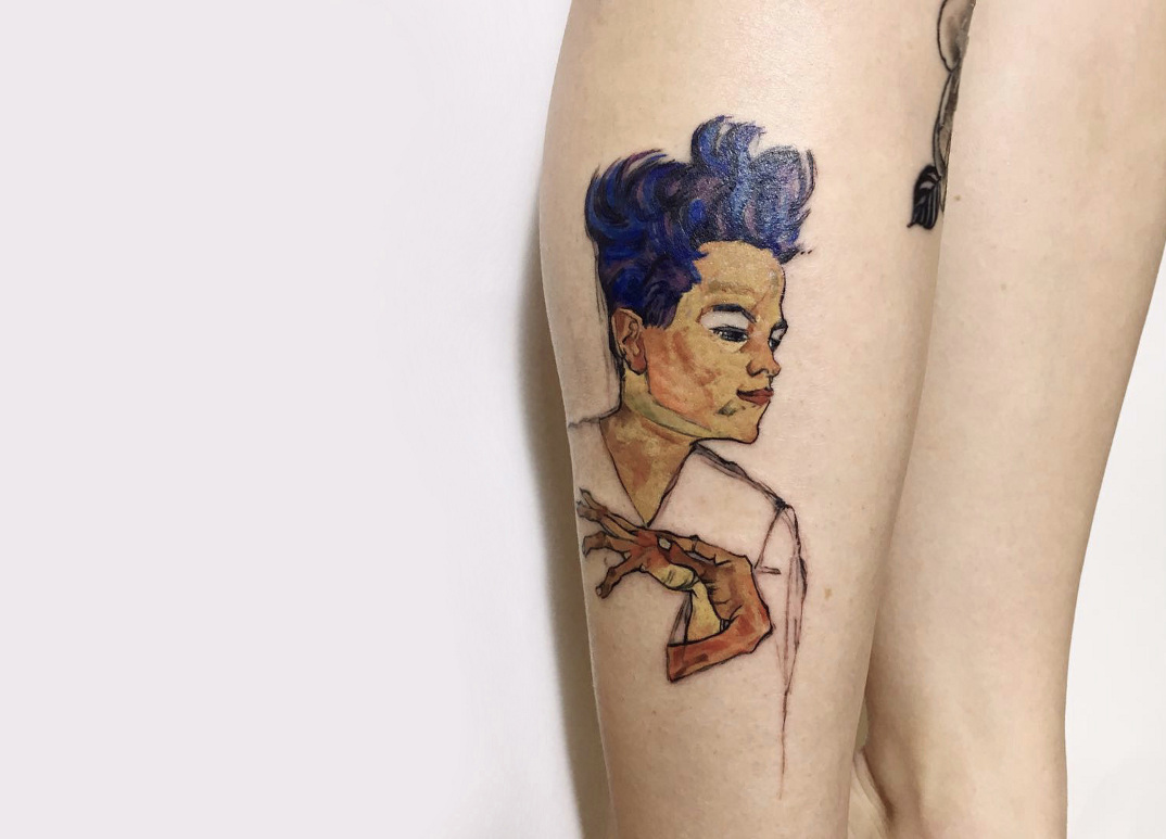 tatuaggi-ispirati-opere-egon-schiele-10