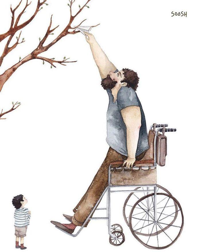 illustrazioni-acquerelli-padre-figlia-snezhana-soosh-071-700x875