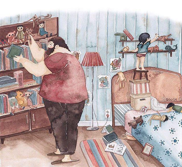 illustrazioni-acquerelli-padre-figlia-snezhana-soosh-12