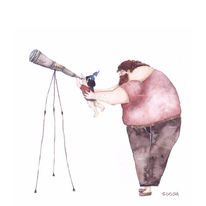 illustrazioni-acquerelli-padre-figlia-snezhana-soosh-17-700x700