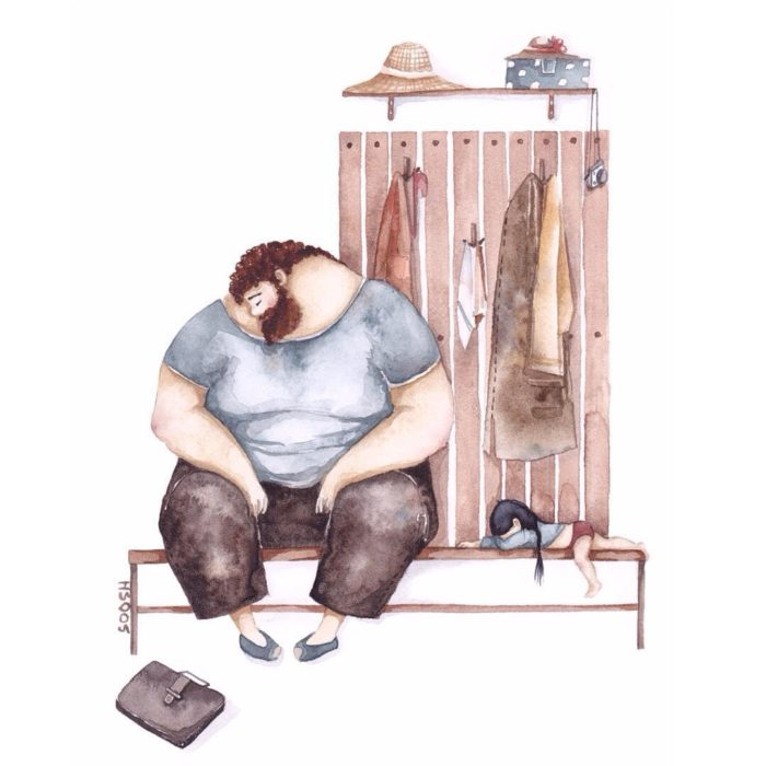 illustrazioni-acquerelli-padre-figlia-snezhana-soosh-21