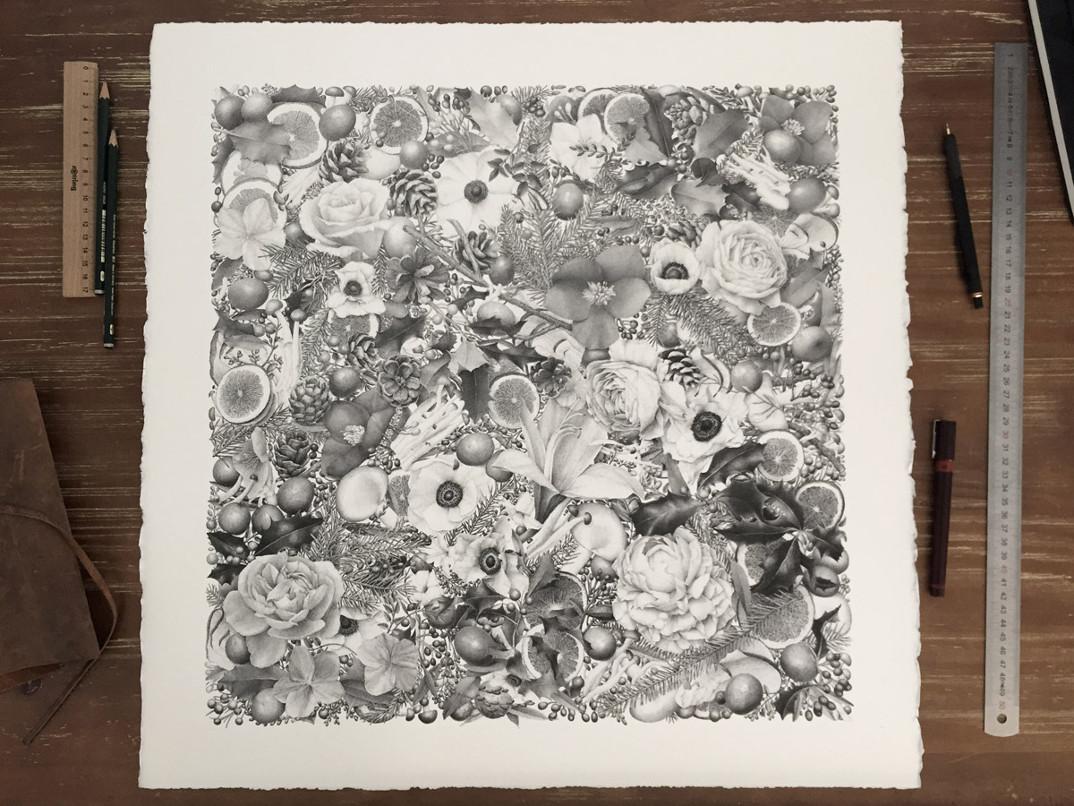 disegno-punti-inchiostro-winter-puntinismo-xavier-casalta-02
