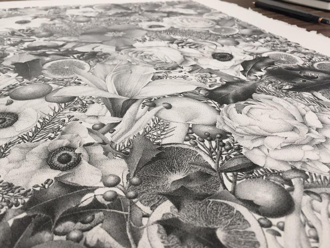 disegno-punti-inchiostro-winter-puntinismo-xavier-casalta-06