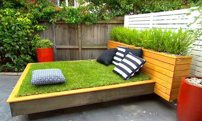 Letto Di Pallets : Fai da te un letto di erba con i pallet ke