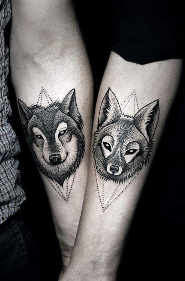 Tatuaggio da fare in coppia con lupi