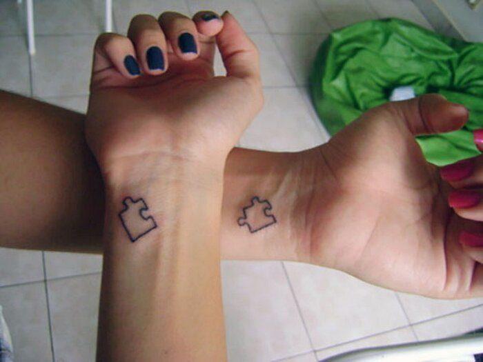 Tatuaggi da fare insieme con puzzle