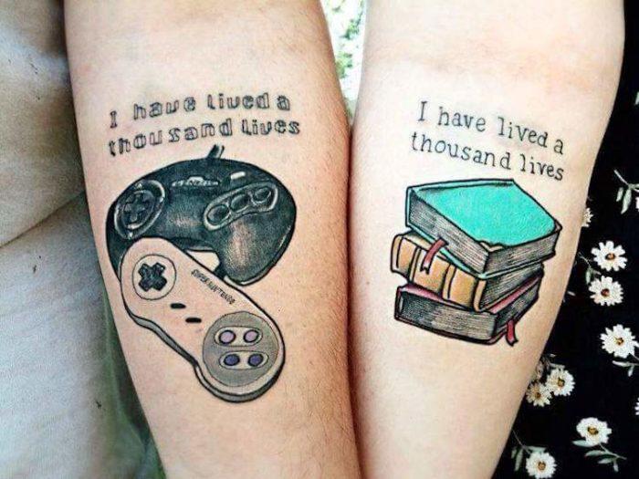 Tatuaggi per coppie con citazione