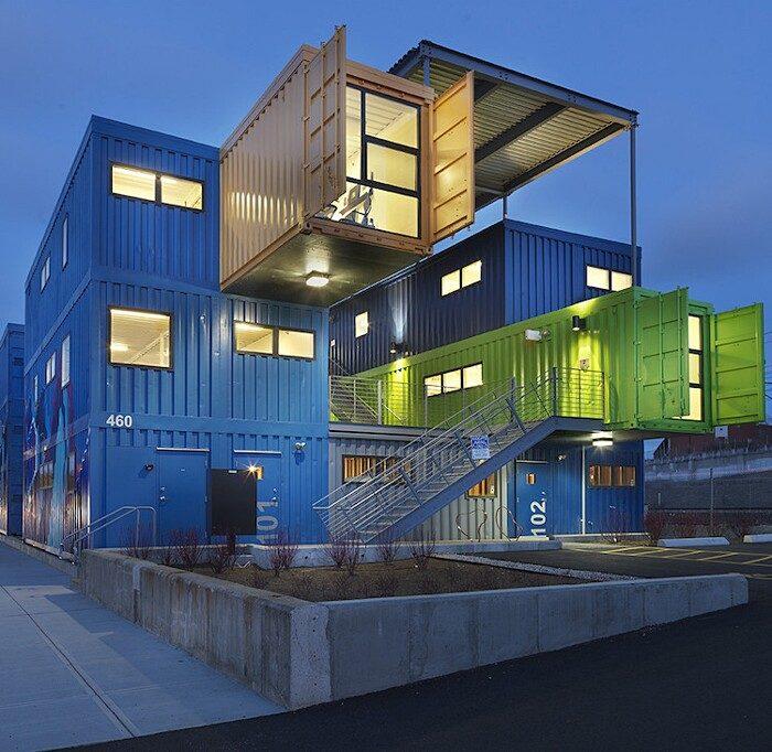 Container abitabili luambiente ricreato alluinterno di for Piani di casa di 10000 piedi quadrati