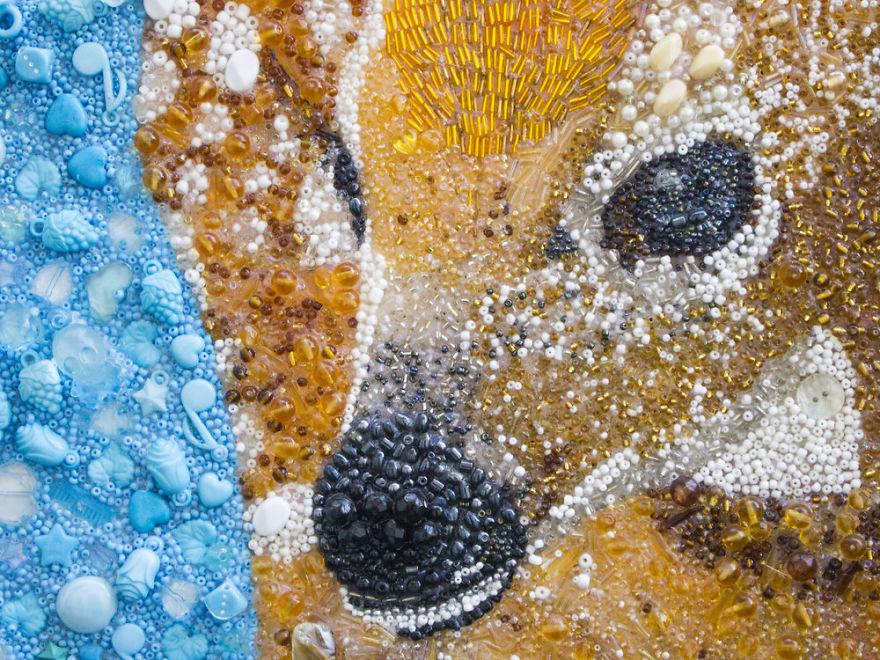 Ritratti Animali Perline Bottoni Sarah Jane Connors