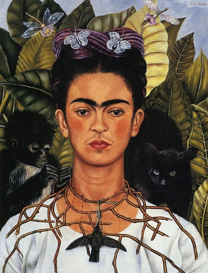 Significato quadri Frida Kahlo - Autoritratto con collana di spine e colibrì