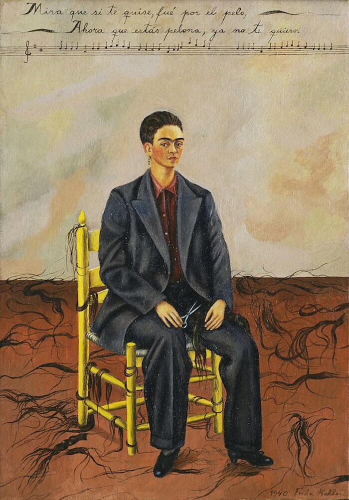 Significato quadri Frida Kahlo - Autoritratto con i capelli tagliati