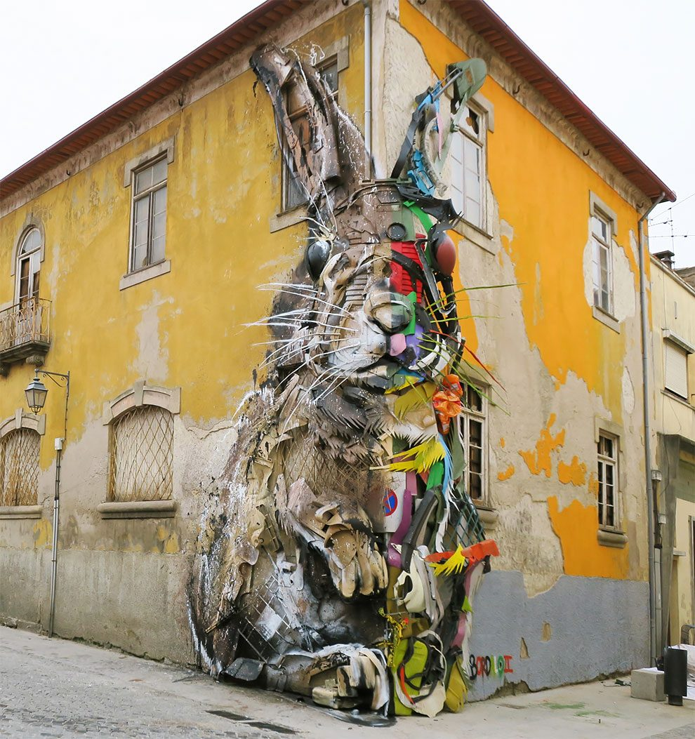 Street Art Coniglio Portogallo Bordalo II