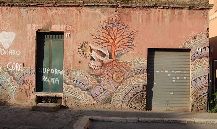 Street Art Roma - Beau Stanton, via dei Pisoni