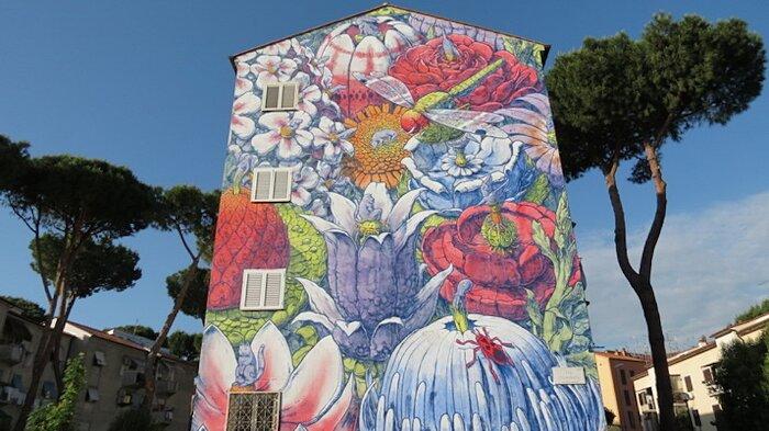 """Street Art Roma - Liqen, """"El divenir"""", via Fiuminati"""